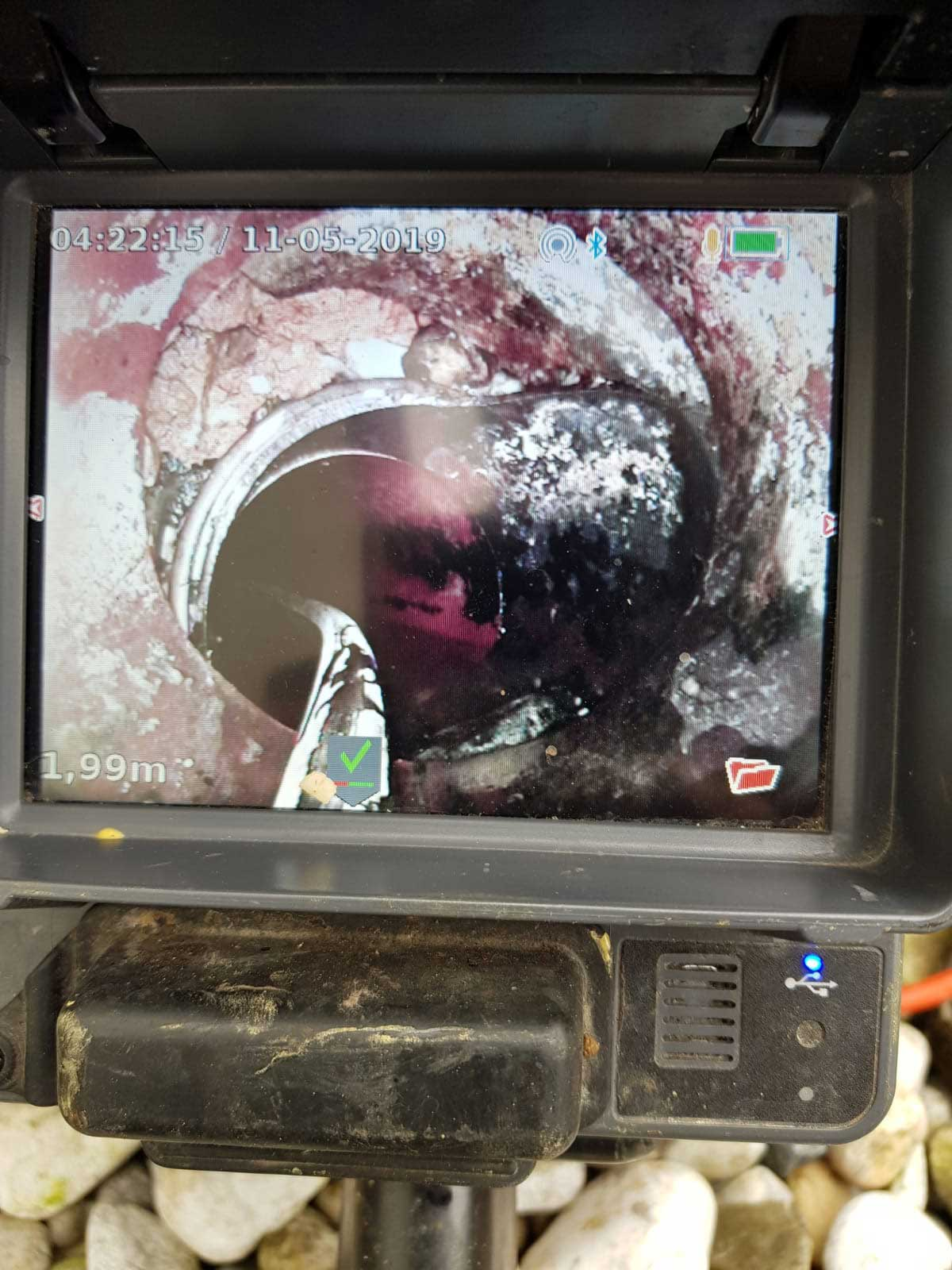 Kanalsanierung Kanalbruch vorher